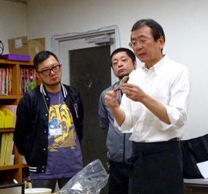 """""""麺""""夢塾 食材解説中。"""