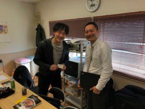 福島鰹株式会社常務と25期生川越さん
