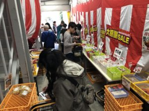 工場直売大成麺市場会場風景