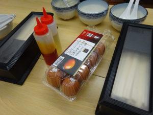 """大成食品主催ラーメン店商品開発研究会""""麺""""夢塾 温泉卵"""