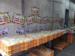 大成麺市場2018年12月の麺売り場