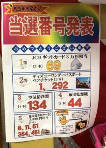 第5回 大成年末宝くじ当選番号発表
