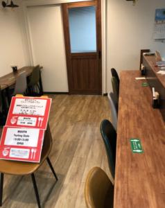 麺テイスティング・カフェショップ MENSTA テイスティングコーナー