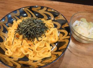 麺テイスティング・カフェショップ MENSTA テイスティングスポット提供メニュー パスタの日(タリアテッレ にウニクリームソース)
